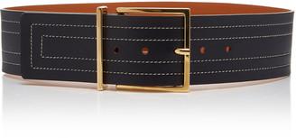 MAISON BOINET Topstitched Leather Belt