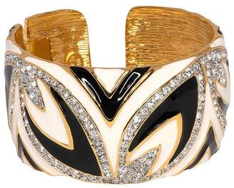 Kenneth Jay Lane Two Toned Hinged Cuff