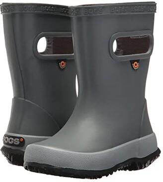 Bogs Skipper Solid (Toddler/Little Kid) (Gray) Boys Shoes