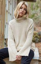 Honey Punch Oversized Ribbed Turtleneck Sweater