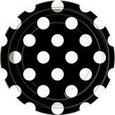 "Polka Dot Dessert Plates, 6.875"", Black, 8 Count"