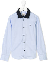 Armani Junior checked shirt