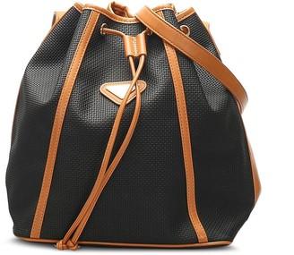 Yves Saint Laurent Pre-Owned Textured Drawstring Bucket Shoulder Bag