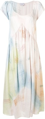 Collina Strada Abstract-Print Silk Dress