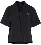 Lucas Hugh Mesh-trimmed Jersey Jacket - Black