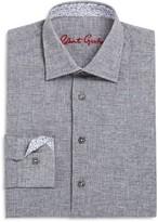 Robert Graham Boys' Basketweave Pattern Linen Blend Dress Shirt