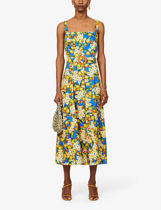 Borgo de Nor Citrus-print otton maxi dress
