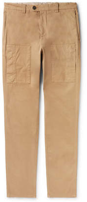 Brunello Cucinelli Slim-Fit Garment-Dyed Stretch-Cotton Cargo Trousers