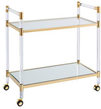 Aiden Lane Jakob Acrylic Bar Cart