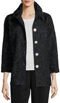 Caroline Rose Pave Cloque Jacket, Plus Size