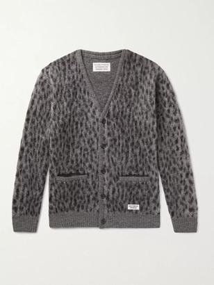 Wacko Maria Leopard Jacquard-Knit Cardigan