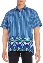 Robert Graham Amble Short Sleeve Woven Button-Down Shirt