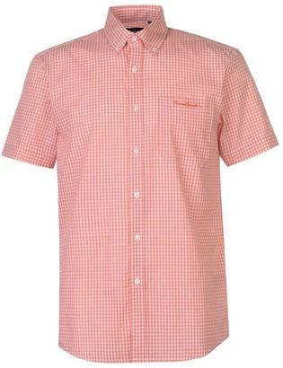 Pierre Cardin Small Gingham Short Sleeve Shirt Mens