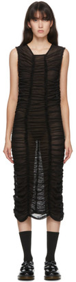 Molly Goddard SSENSE Exclusive Black Mesh Elisa Dress