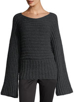 Rosetta Getty Ribbed Boat-Neck Sweater