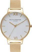 Olivia Burton OB15BD84 White Dial gold mesh watch