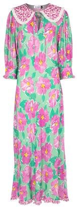 Rixo Lauren floral satin maxi dress