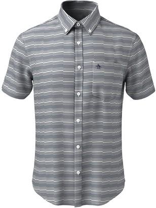 Original Penguin Zig-Zag Stripe Short Sleeve Heritage Fit Shirt