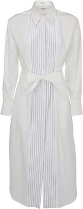 Brunello Cucinelli Striped Belted Dress