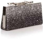 Jimmy Choo Celeste small degrade glitter logo clutch