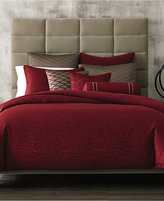 Hotel Collection Woven Texture Red Full/Queen Duvet Cover
