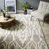 west elm Signet Wool Rug - Heather Gray