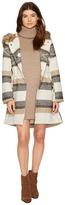 BB Dakota Ryker Faux Fur Hooded Coat Women's Clothing
