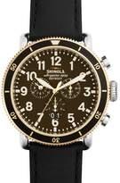 Shinola 47mm Runwell Sport Chronograph Watch with Black Strap