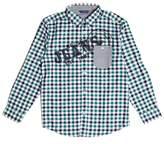 GUESS Long-Sleeve Gingham Logo Shirt (7-18)