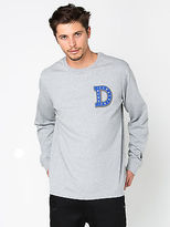 Deus Ball Long Sleeve T Shirt In Grey Marle size L