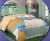 Disney 7pcs Winnie the Pooh Full Size Comforter and Sheet Set ~ 100% Cotton Jersey Knit Bed in a Bag