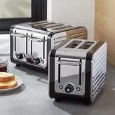 Crate & Barrel Dualit © Design Black/Stainless Steel Toasters