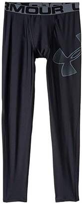 Under Armour Kids Armour HeatGear(r) Leggings (Big Kids) (Black/Pitch Gray) Boy's Casual Pants