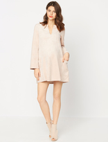 A Pea in the Pod Bcbg Max Azria Split Neck Maternity Dress