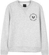 True Religion Grey Mélange Jersey Sweatshirt
