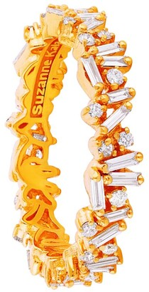Suzanne Kalan Yellow Gold And Diamond Fireworks Eternity Ring