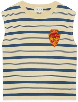 Gucci Children's striped tank top with patch