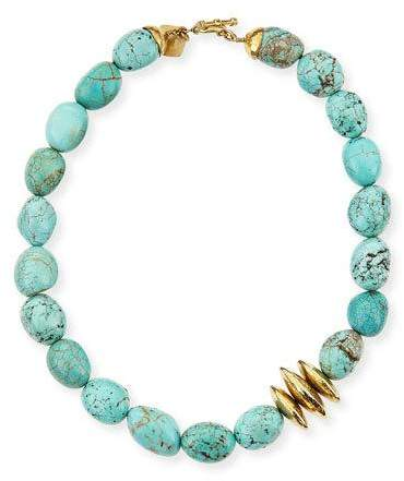 Ashley Pittman Yai Turquoise Necklace