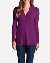 Eddie Bauer Women's Cross V-Neck Sweatshirt Sweater