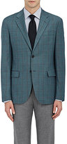 Barneys New York MEN'S WINDOWPANE-CHECKED TRAVELLER WOOL TWO-BUTTON SPORTCOAT
