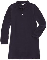Brooks Brothers Girls' Navy Jersey Polo Dress.