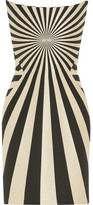 Gareth Pugh Striped Hopsack Mini Dress - Neutral