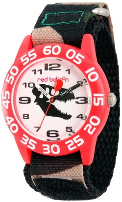 EWatchFactory Red Balloon Dinosaur Boys' Red Plastic Time Teacher Watch