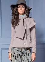 Kaleidoscope Tie Neck Tailored Jacket