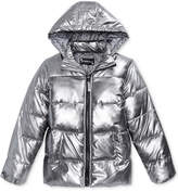S. Rothschild Hooded Metallic Puffer Coat, Big Girls (7-16)