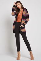 BCBGeneration Rainbow Striped Cardigan - Black