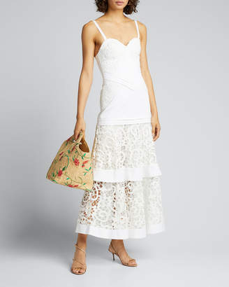 Alexis Harlowe Tiered-Lace Sleeveless Dress