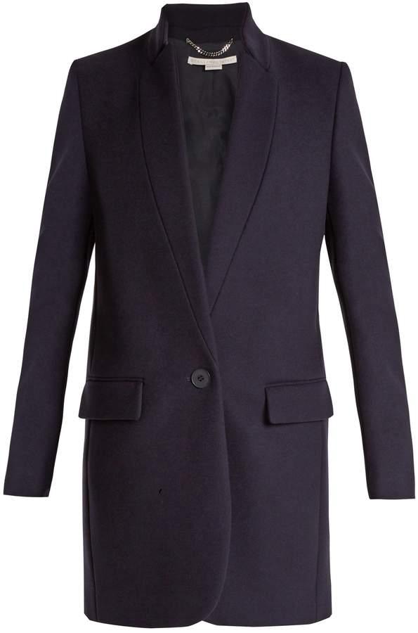 Stella McCartney Bryce single-breasted wool-blend coat