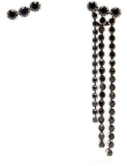 Isabel Marant Mismatched Crystal Earrings - Black