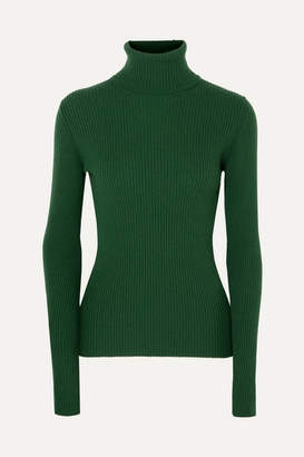 Hillier Bartley Ribbed Cashmere Turtleneck Sweater - Forest green